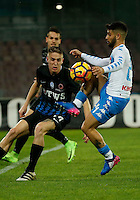 Andrea Conti  and Lorenzo Insigne  during the SSC Napoli vs Atalanta, serie A  soccer match at  San Paolo Stadium in Naples , Italy 25 February 2017 Photo: Ciro De Luca ciro de luca<br />   +39 02 43998577 sales@silverhubmedia.it