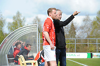 VOETBAL: JOURE: 30-04-2016, SC Joure - SV Mulier, uitslag 2-1, trainer Marco Vlap en Herman Sprik (SV Mulier), ©foto Martin de Jong