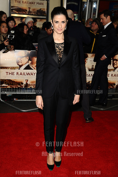 "Livia Firth arrives for the UK premiere of ""The Railway Man"" at the Odeon West End, Leicester Square, London. 04/12/2013 Picture by: Steve Vas / Featureflash"