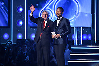 NEW YORK - JANUARY 28: Tony Bennet and John Legend appear during the 60th Annual Grammy Awards at Madison Square Garden on January 28, 2018 in New York City. (Photo by Frank Micelotta/PictureGroup)