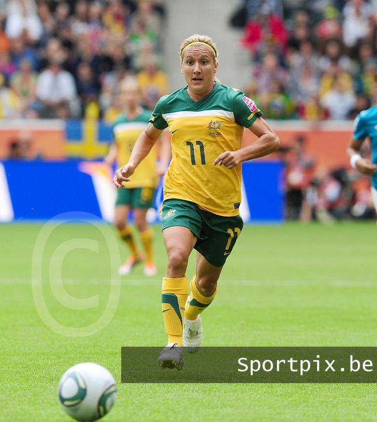 Fifa Women's World Cup Germany 2011 : Brazil - Australia  at Borussia - Park in Munchengladbach : Lisa De Vanna.foto DAVID CATRY / Vrouwenteam.be