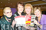 On a winner: Checking the form at the Pre-Cheltenham meeting in the Listowel Arms Hotel on Monday night in aid of the Kerry Parent's and Friends were Norah Canty, Bernie Daly, Kathleen Houlihan and Margaret McAulliffe.