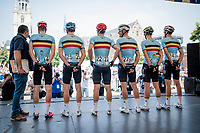 4 days ahead of the Belgian National Championships, a Belgian National Team Selection with riders from several teams (not competing with their own teams here) is present as a last prep opportunity for that race<br /> <br /> 72nd Halle - Ingooigem 2019 (BEL/1.1)<br /> 1 day race from Halle to Ingooigem (201km)<br /> <br /> ©kramon