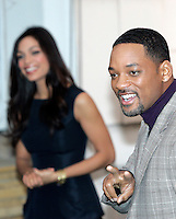 "Gli attori statunitensi Will Smith, destra, e Rosario Dawson posano durante un photocall per la presentazione del film ""Sette anime"" a Roma, 8 gennaio 2009..U.S. actors Will Smith, right, and Rosario Dawson pose during a photocall for the presentation of the movie ""Seven Pounds"" in Rome, 8 january 2009..UPDATE IMAGES PRESS/Riccardo De Luca"