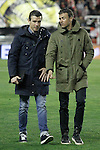 FC Barcelona's coach Luis Enrique Martinez (r) with his second Juan Carlos Unzue during La Liga match. March 3,2016. (ALTERPHOTOS/Acero)