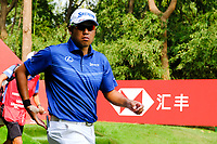 Hideki Matsuyama (JPN) walking off the 9th tee during the 2nd round at the WGC HSBC Champions 2018, Sheshan Golf CLub, Shanghai, China. 26/10/2018.<br /> Picture Fran Caffrey / Golffile.ie<br /> <br /> All photo usage must carry mandatory copyright credit (&copy; Golffile | Fran Caffrey)