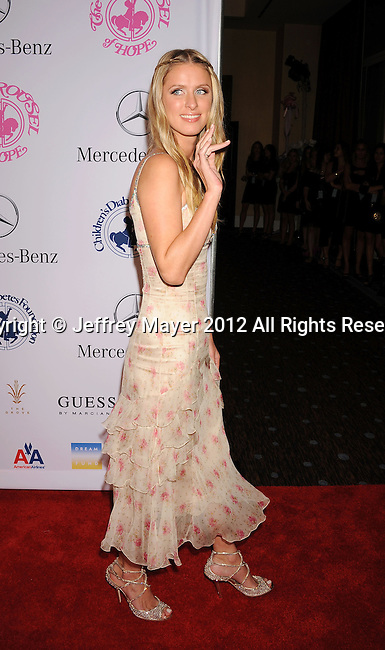 BEVERLY HILLS, CA - OCTOBER 20: Nicky Hilton arrives at the 26th Anniversary Carousel Of Hope Ball presented by Mercedes-Benz at The Beverly Hilton Hotel on October 20, 2012 in Beverly Hills, California.