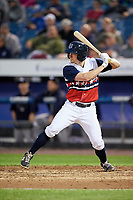 Syracuse Chiefs left fielder Andrew Stevenson (2) at bat during a game against the Scranton/Wilkes-Barre RailRiders on June 14, 2018 at NBT Bank Stadium in Syracuse, New York.  Scranton/Wilkes-Barre defeated Syracuse 9-5.  (Mike Janes/Four Seam Images)