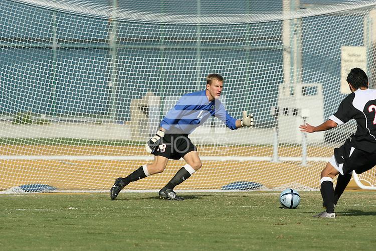 13 November 2005: Andrew Kartunen during Stanford's 4-1 loss to California at Edwards Stadium in Berkeley, CA.