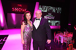 Breast Cancer Care Charity Fashion Show.<br /> Wales Millennium Centre.<br /> Casualty star and host for the evening Amanda Mealing with Wales rugby head coach Warren Gatland.<br /> 05.03.14<br /> <br /> &copy;Steve Pope-FOTOWALES