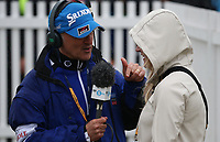 Wife Wendy interviewed; /{prsn}/ is the Champion Golfer of the Year during the Final Round of the 148th Open Championship, Royal Portrush Golf Club, Portrush, Antrim, Northern Ireland. 21/07/2019. Picture David Lloyd / Golffile.ie<br /> <br /> All photo usage must carry mandatory copyright credit (© Golffile | David Lloyd)