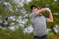 Joaquin Niemann (CHL) watches his tee shot on 2 during day 2 of the Valero Texas Open, at the TPC San Antonio Oaks Course, San Antonio, Texas, USA. 4/5/2019.<br /> Picture: Golffile | Ken Murray<br /> <br /> <br /> All photo usage must carry mandatory copyright credit (&copy; Golffile | Ken Murray)