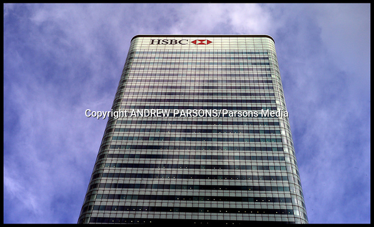 HSBC Building in the Financial district of London in Canery Wharf ,Thursday October 6, 2011. Photo By Andrew Parsons