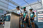 Slovakian National Champion Peter Sagan (SVK) and Bora-Hansgrohe at sign on before the start of Stage 5 of the Race of the Two Seas, the 54th Tirreno-Adriatico 2019, running 180km from Colli al Matauro to Recanati, Italy. 17th March 2019.<br /> Picture: LaPresse/Gian Mattia D'Alberto | Cyclefile<br /> <br /> <br /> All photos usage must carry mandatory copyright credit (© Cyclefile | LaPresse/Gian Mattia D'Alberto)
