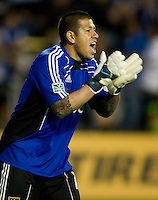 Real Salt Lake goalkeeper Nick Rimando in action during the game against the Earthquakes at Buck Shaw Stadium in Santa Clara, California on March 27th, 2010.   Real Salt Lake defeated San Jose Earthquakes, 3-0.