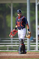 Minnesota Twins catcher Caleb Hamilton (90) during an Instructional League game against the Boston Red Sox on September 24, 2016 at CenturyLink Sports Complex in Fort Myers, Florida.  (Mike Janes/Four Seam Images)