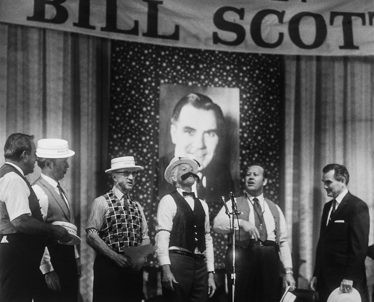 Band playing music at re-election rally for Sen. William L. Scott, R-Va. 1974 (Photo by CQ Roll Call)