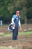 Tommy Fleetwood (ENG) caddy Ian on the 2nd during Round 3 of the Sky Sports British Masters at Walton Heath Golf Club in Tadworth, Surrey, England on Saturday 13th Oct 2018.<br /> Picture:  Thos Caffrey | Golffile