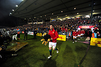 Lions captain Peter O'Mahoney leads his team out for the 2017 DHL Lions Series rugby union match between the NZ Maori and British & Irish Lions at Rotorua International Stadium in Rotorua, New Zealand on Saturday, 17 June 2017. Photo: Dave Lintott / lintottphoto.co.nz
