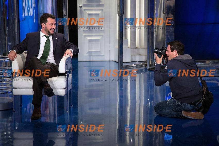 Matteo Salvini<br /> Roma 18-05-2016 Trasmissione tv Porta a Porta. <br /> Tv Show Porta a Porta. <br /> Photo Samantha Zucchi Insidefoto