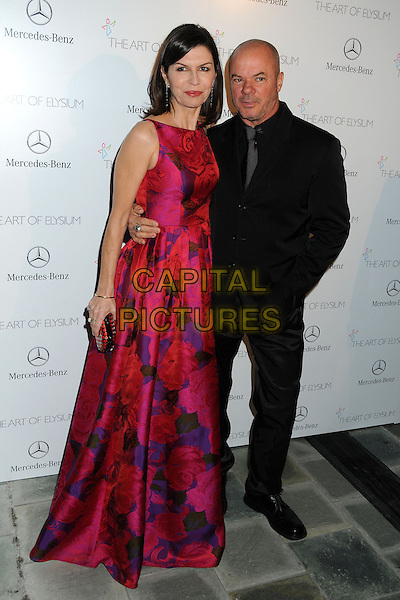 11 January 2014 - Los Angeles, California - Finola Hughes, Russell Young. 7th Annual Art of Elysium Heaven Gala held at the Skirball Cultural Center.  <br /> CAP/ADM/BP<br /> &copy;Byron Purvis/AdMedia/Capital Pictures