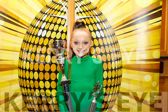 Abbie Sheehan from Abbeydorney, who collected a 1st, 2nd and 4th place title in the Hip Hop dance championships held in the Brandon Hotel last weekend.