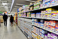 MIRAMAR, FL - OCTOBER 06: view of baby food and formula shelve inside Walmart in Miramar, Florida in preparation for the landfall of Hurricane Matthew on October 6, 2016 in Miramar, Florida. The hurricane is expected to make landfall sometime this evening or early in the morning as a possible category 4 storm.Credit: MPI10 / MediaPunch