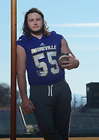 NWA Democrat-Gazette/ANDY SHUPE<br /> Booneville senior Noah Reyes is a leader for the Bearcats as they prepare for Prescott. Tuesday, Nov. 27, 2018.