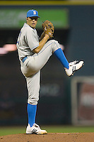 Relief pitcher Matt Grace #31 of the UCLA Bruins in action versus the Rice Owls  in the 2009 Houston College Classic at Minute Maid Park February 27, 2009 in Houston, TX.  The Owls defeated the Bruins 5-4 in 10 innings. (Photo by Brian Westerholt / Four Seam Images)