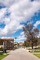 Thorne Hall as seen from Occidental College's Johnson Student Center (JSC) quad on March 8, 2019.<br />