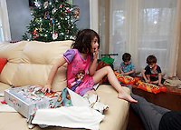 The 2014 Shurtleff Christmas with Cohen, Cooper, Ava, Andrew and Mailynn Shurtleff at home in Charlottesville, VA. Photo/Andrew Shurtleff