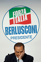 Silvio Berlusconi <br /> Roma 01/03/2018. Incontro dei leader della coalizione di centrodestra.<br /> Rome March 01st 2018. Meeting of the leaders of the centre-right coalition at the next political elections in Italy, that will take place on March 4th. <br /> Foto Samantha Zucchi Insidefoto