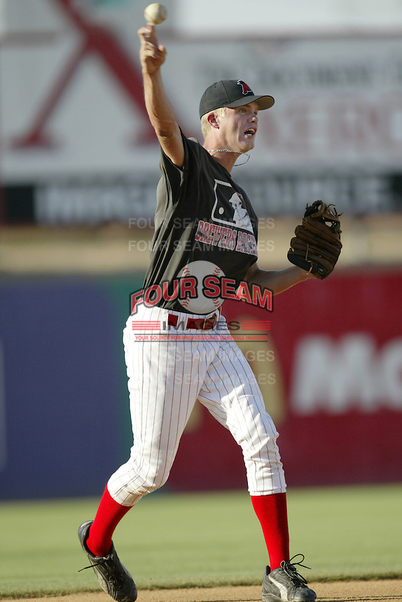 Corey Hart of the High Desert Mavericks plays in a California League game at Stater Bros. Stadium during the 2002 season in Adelanto, California. (Larry Goren/Four Seam Images)