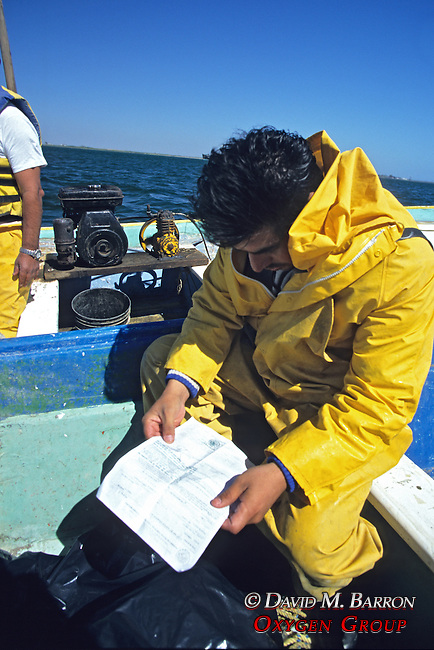 Profepa Checking Fisherman's Licenses