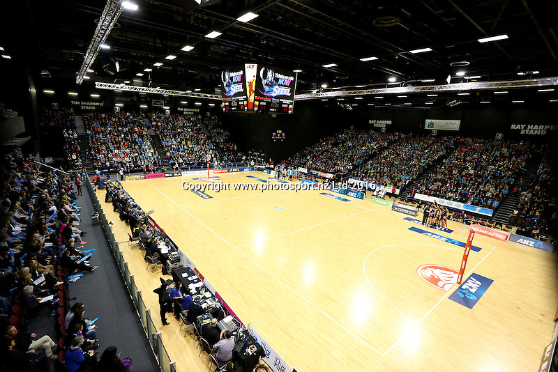 A general view during half time at the ANZ Championship netball match between the Southern Steel and Waikato Bay of Plenty Magic, ILT Stadium Southland, Invercargill, Sunday, June 19, 2016. Photo: Dianne Manson / www.photosport.nz