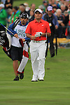 Francesco Molinari walkin gthe first on the final day of the 3 Irish Open, at the Killarney Golf and Fishing Club, Killarney, Ireland.Picture Fran Caffrey/www.golffile.ie.