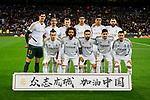 Team photo of Real Madrid during La Liga match between Real Madrid and RC Celta de Vigo at Santiago Bernabeu Stadium in Madrid, Spain. February 16, 2020. (ALTERPHOTOS/A. Perez Meca)