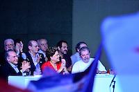 BRASÍLIA, DF, 21.06.2014 – CONVENÇÃO NACIONAL DO PT – O ex presidente Luiz Inácio e a presidente Dilma Rousseff durante Convenção Nacional do PT para votação dos delegados para a reeleição da presidente Dilma Rousseff, realizada no Centro de Convenções Brasil 21, em Brasília, neste sábado, 21. (Foto: Ricardo Botelho / Brazil Photo Press)