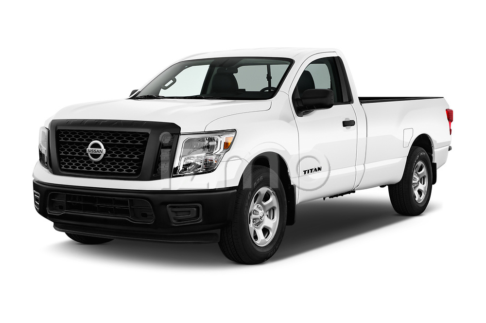 2017 Nissan Titan S-Single 2 Door Pick-up Angular Front stock photos of front three quarter view