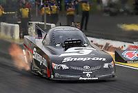 May 10, 2013; Commerce, GA, USA: NHRA funny car driver Cruz Pedregon during qualifying for the Southern Nationals at Atlanta Dragway. Mandatory Credit: Mark J. Rebilas-