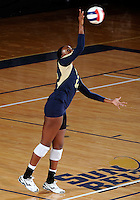 Florida International University women's volleyball player Renele Forde (14) plays against Western Kentucky University.  Western Kentucky won the match 3-0 on September 30, 2011 at Miami, Florida. .
