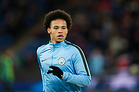 Manchester City's Leroy Sane during the pre-match warm-up <br /> <br /> Photographer Craig Mercer/CameraSport<br /> <br /> UEFA Champions League Round of 16 First Leg - Basel v Manchester City - Tuesday 13th February 2018 - St Jakob-Park - Basel<br />  <br /> World Copyright &copy; 2018 CameraSport. All rights reserved. 43 Linden Ave. Countesthorpe. Leicester. England. LE8 5PG - Tel: +44 (0) 116 277 4147 - admin@camerasport.com - www.camerasport.com