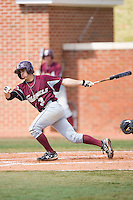 Richie Rodriguez #3 of the Eastern Kentucky Colonels follows through on his swing versus the High Point Panthers at Williard Stadium March 14, 2010 in High Point, North Carolina.  Photo by Brian Westerholt / Four Seam Images