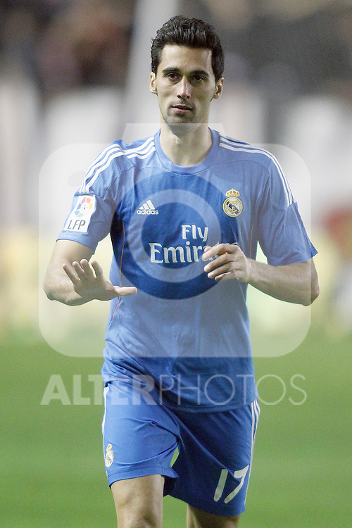 Real Madrid's Alvaro Arbeloa during La Liga match.November 22,2013. (ALTERPHOTOS/Acero)