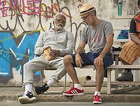 Uncle Drew (2018)<br /> Kyrie Irving and Director Charles Stone III <br /> *Filmstill - Editorial Use Only*<br /> CAP/KFS<br /> Image supplied by Capital Pictures