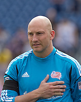 New England Revolution goalkeeper Matt Reis (1). In a Major League Soccer (MLS) match, DC United defeated the New England Revolution, 2-1, at Gillette Stadium on April 14, 2012.