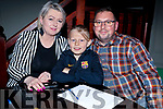 Martha, Karol and Adam Kowascyzk at the St Brendan's Park FC Quiz in the Meadowlands on Friday