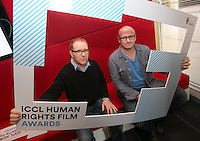 ***NO FEE PIC *** 05/06/2014 (L to R) Jury Members Conor McPherson – Award-winning playwright and screenwriter & Lenny Abrahamson – Award-winning director of Frank, Adam and Paul, Garage and What Richard Did during the launch of the ICCL (Irish Council for Civil Liberties) Human Rights Film Awards Shortlist at the IFCO in Smith field, Dublin. Photo: Gareth Chaney Collins