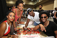 NEW ORLEANS, LA - JULY 2, 2016 Keri Hilson, Kimberly Elise, JB Smoove & Jessie Usher backstage at the Essence Festival, July 2, 2016 at The New Orleans Convention Center in New Orleans Louisiana. Photo Credit: Walik Goshorn / Media Punch