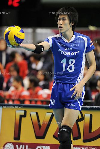 Yuji Suzuki (Arrows), MARCH 6, 2011 - Volleyball : 2010/11 Men's V.Premier League match between Oita Miyoshi Weisse Adler 1-3 Toray Arrows at Tokyo Metropolitan Gymnasium in Tokyo, Japan. (Photo by AZUL/AFLO)